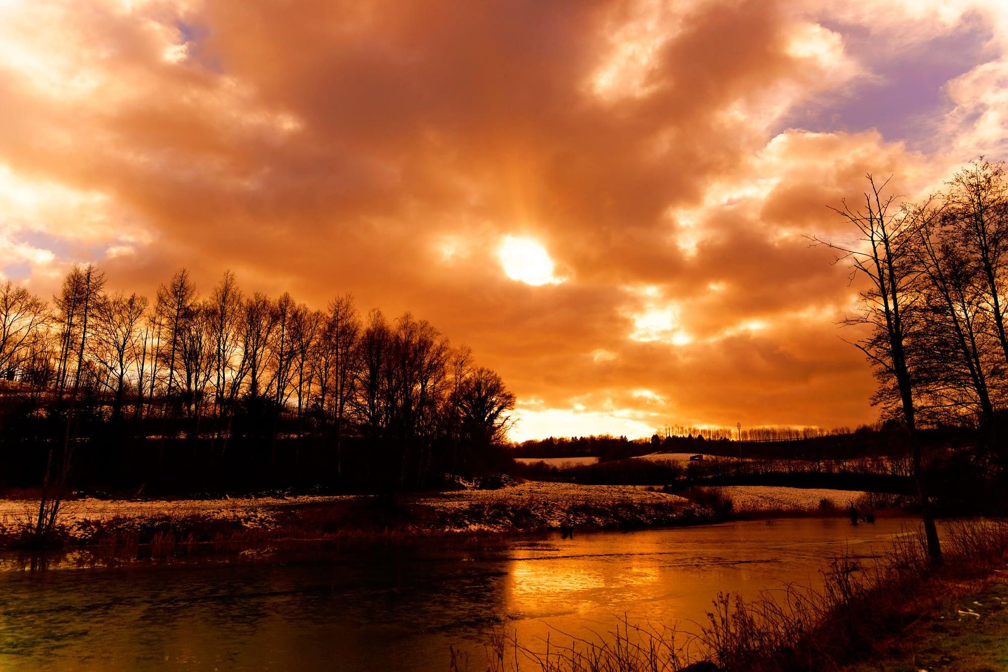 Lac et coucher de soleil Stéphane Thirion etix photographe